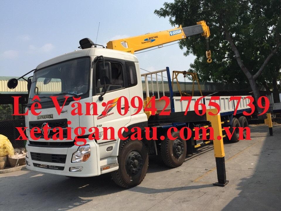 Xe tải cẩu Dongfeng 4 chân gắn cẩu 7 tấn post image