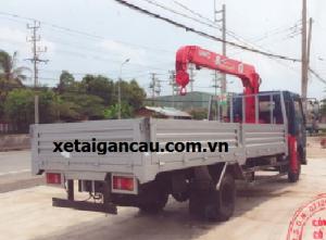 Xe tải Veam VT490 gắn cẩu unic 3 tấn