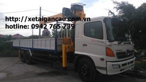 Xe tải hino FL gắn cẩu Soosan 7 tấn