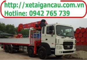 Xe tải hyundai  HD320 gắn cẩu Kanglim 7 tấn thumbnail