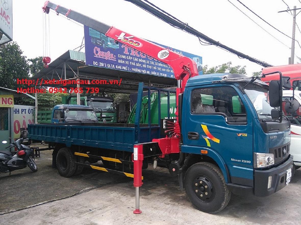 Xe tải cẩu Veam VT650 gắn cẩu 3 tấn. post image