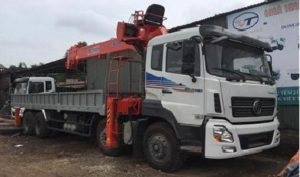 Xe tải trường giang 4 chân gắn cẩu kanglim 10 tấn thumbnail