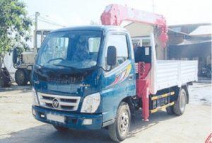 Xe tải cẩu ollin gắn cẩu unic 5 tấn
